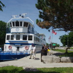 Fenelon Falls - Trent Canal Lock 34  -2015.06.20-29  10.37 EST  KAWARTHA VOYAGEUR above the lock