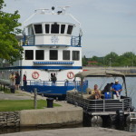 Hastings - Trent Canal Lock 18  -2015.06.11-11  KAWARTHA VOYAGEUR at 15.03 EST  & boaters  Look s