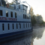 Kirkfield Lift Lock - contol canal  -2015.06.20-09  04.51 EST  KAWARTHA VOYAGEUR at sunrise  Look
